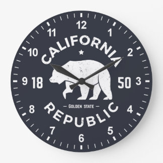 California Logo | The Golden State Large Clock