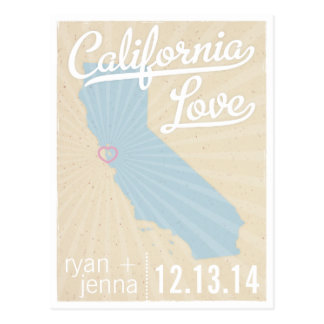 California Love Save the Date Postcard