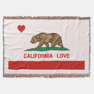 California Love State Flag Throw Blanket