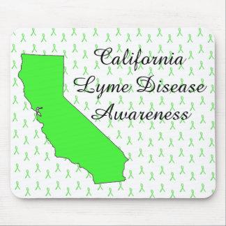 California Lyme Disease Awareness Ribbon Mouse Pad
