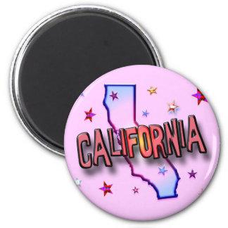 CALIFORNIA 6 CM ROUND MAGNET