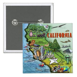 California Map 15 Cm Square Badge