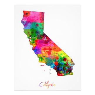California Map 21.5 Cm X 28 Cm Flyer