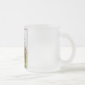 California Map and State Flag Frosted Glass Mug