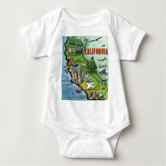 California Map Baby Bodysuit