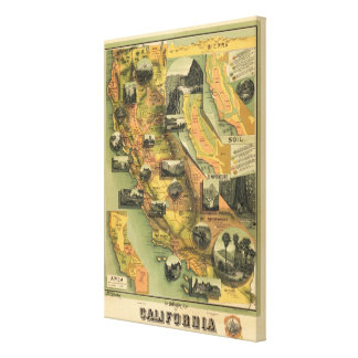 California Map Canvas Print