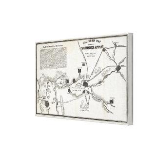 California Map Canvas Print