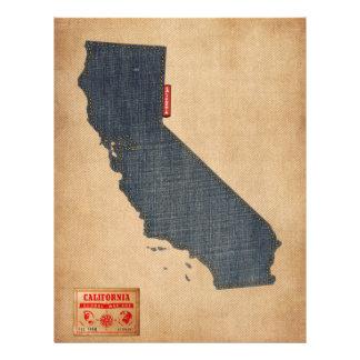 California Map Denim Jeans Style Full Colour Flyer