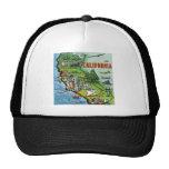 California Map Hat