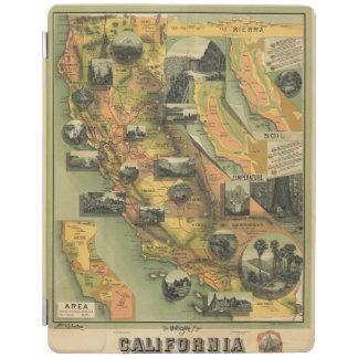 California Map iPad Cover