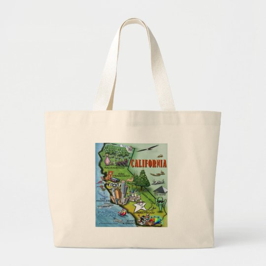 California Map Large Tote Bag
