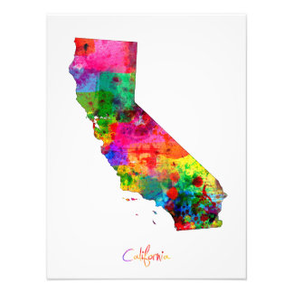 California Map Photographic Print