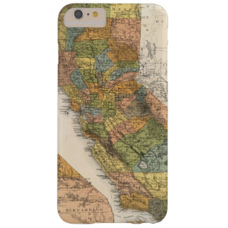 California Map showing townships and railroads Barely There iPhone 6 Plus Case