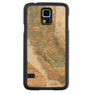 California Map showing townships and railroads Carved Maple Galaxy S5 Case