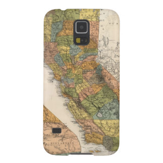 California Map showing townships and railroads Cases For Galaxy S5