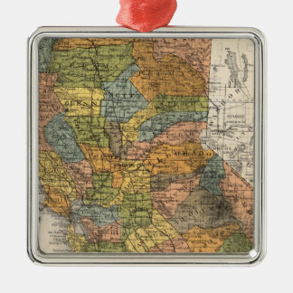 California Map showing townships and railroads Christmas Ornament