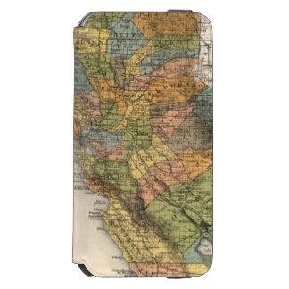 California Map showing townships and railroads Incipio Watson™ iPhone 6 Wallet Case
