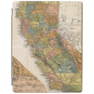 California Map showing townships and railroads iPad Cover