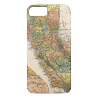 California Map showing townships and railroads iPhone 7 Case
