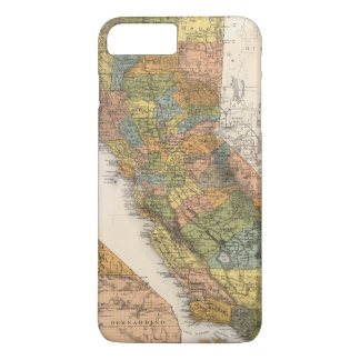 California Map showing townships and railroads iPhone 8 Plus/7 Plus Case