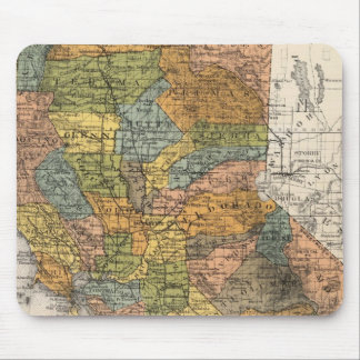 California Map showing townships and railroads Mouse Mat