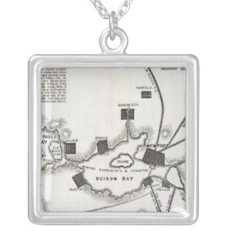 California Map Silver Plated Necklace