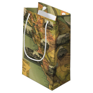 California Map Small Gift Bag
