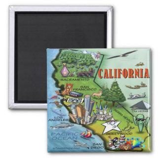 California Map Square Magnet