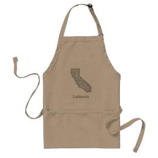 California map standard apron