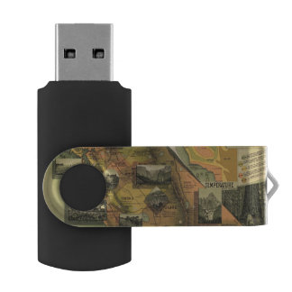 California Map USB Flash Drive