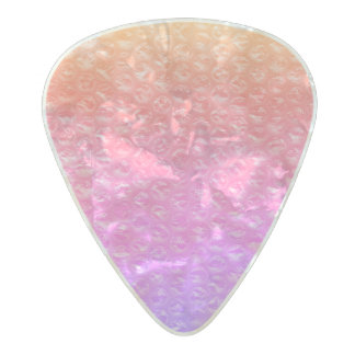 California Mermaid Soda Pop Bubble Wrap Pink Pearl Celluloid Guitar Pick