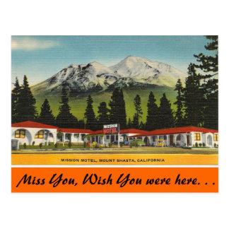 California, Mission Motel Postcard
