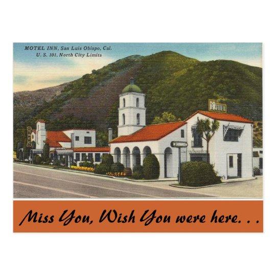 California, Motel Inn, San Luis Obispo Postcard
