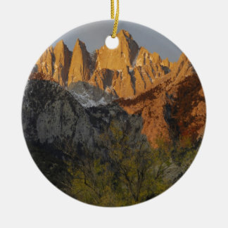 California, Mount Whitney, Inyo National Forest 3 Christmas Ornament
