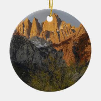 California, Mount Whitney, Inyo National Forest 3 Round Ceramic Decoration