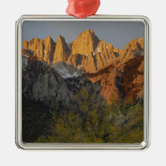 California, Mount Whitney, Inyo National Forest 3 Silver-Colored Square Decoration