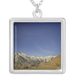 California, Mount Whitney, Inyo National Forest Silver Plated Necklace