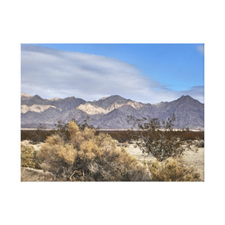 California Mountains Stretched Canvas Print