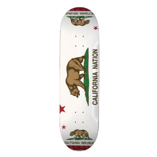 California Nation Republic Flag Custom Skate Board