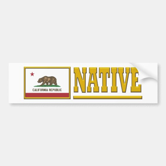 California Native Bumper Sticker