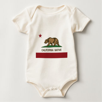 California Native Republic Flag Baby Bodysuit