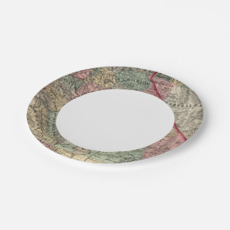 California, Nevada 2 Paper Plate