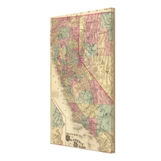 California, Nevada Stretched Canvas Prints