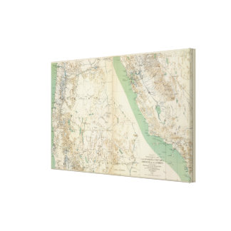 California, Nevada, Oregon Canvas Print