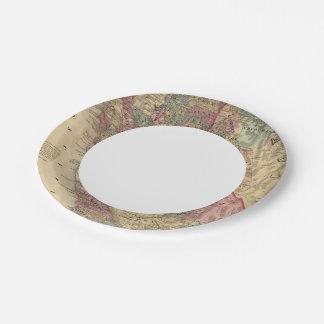 California, Nevada Paper Plate