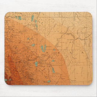 California, Nevada showing intensity Mouse Mat