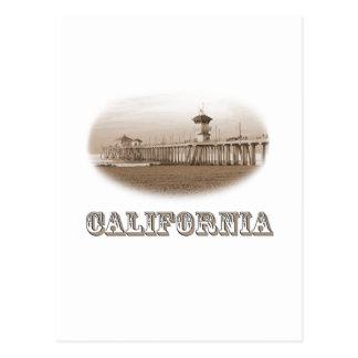 California Ocean Pier State PRIDE Vintage Old West Postcard