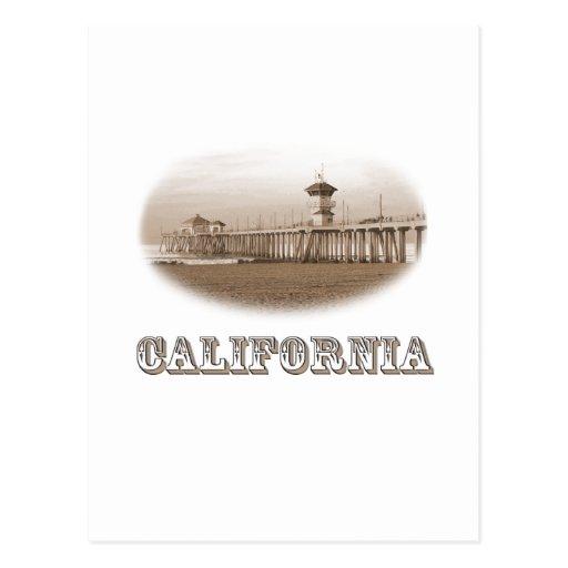 California Ocean Pier State PRIDE Vintage Old West Post Cards
