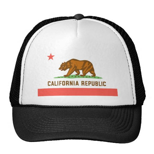 California Official State Flag Hat