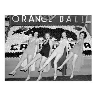 California Orange Ball, 1930s Post Card